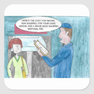 Sticker Carré Douleur dans le portefeuille