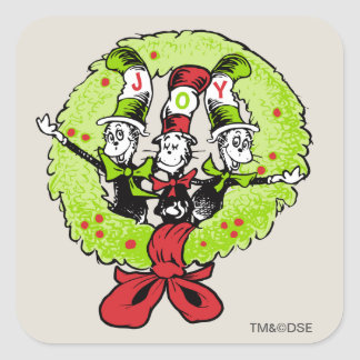 Sticker Carré Dr. Seuss | la joie de Noël de Grinch | Whoville