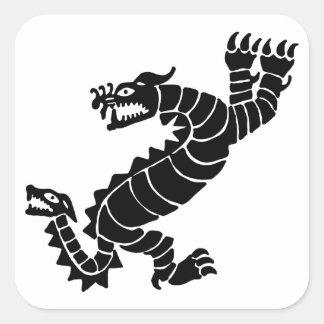 Sticker Carré Dragon péruvien