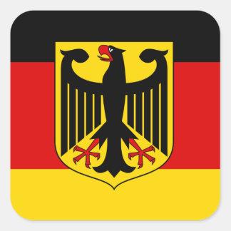 Sticker Carré Drapeau allemand