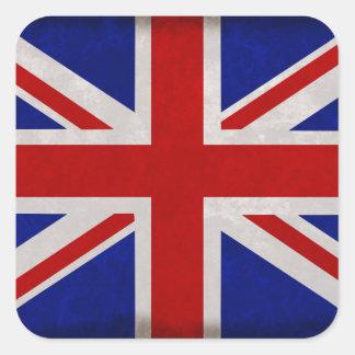 Sticker Carré Drapeau Anglais d'Angleterre texturé