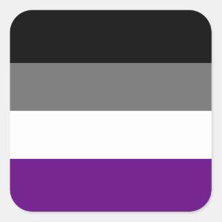 Sticker Carré Drapeau asexuel solide de fierté