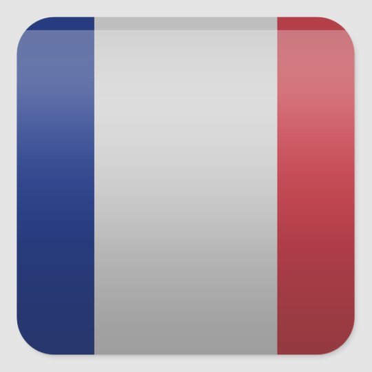 Sticker Carré Drapeau de de la France