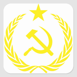Sticker Carré Drapeau de guerre froide de Communiste