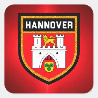 Sticker Carré Drapeau de Hanovre
