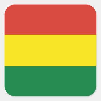 Sticker Carré Drapeau de la Bolivie