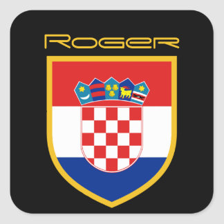 Sticker Carré Drapeau de la Croatie personnalisé