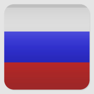 Sticker Carré Drapeau de la Fédération de Russie