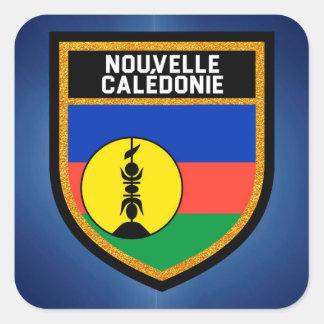 Sticker Carré Drapeau de la Nouvelle-Calédonie