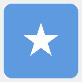 Sticker Carré Drapeau de la Somalie