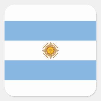 Sticker Carré Drapeau de l'Argentine - le Bandera De Argentine