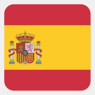 Sticker Carré Drapeau de l'Espagne - le Bandera de Espana