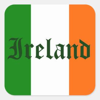 Sticker Carré Drapeau de l'Irlande