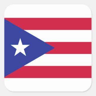 Sticker Carré Drapeau de Porto Rico - Bandera De Porto Rico