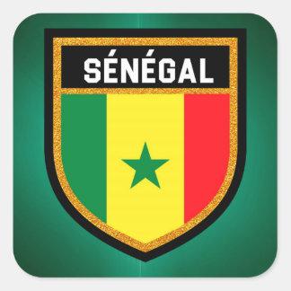 Sticker Carré Drapeau de Sénégal