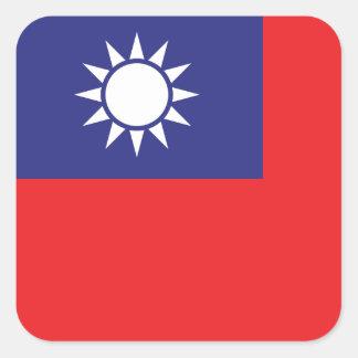 Sticker Carré Drapeau de Taïwan