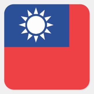 Sticker Carré Drapeau de Taïwan République de Chine