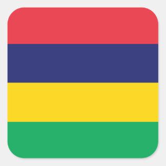 Sticker Carré Drapeau des Îles Maurice