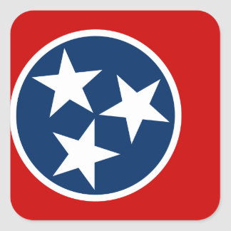 Sticker Carré Drapeau du Tennessee