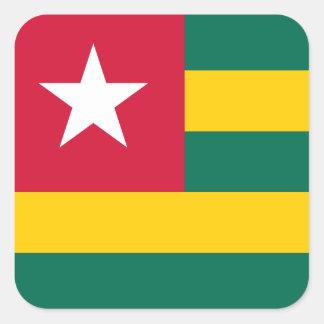 Sticker Carré Drapeau du Togo