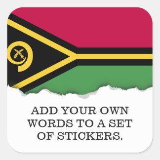 Sticker Carré Drapeau du Vanuatu