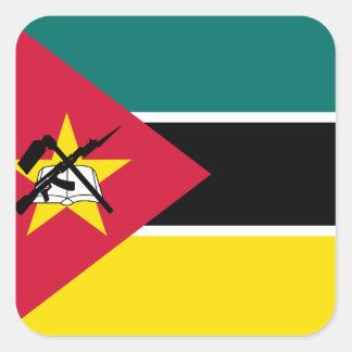 Sticker Carré Drapeau national du monde de la Mozambique