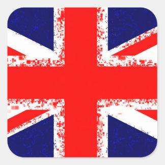 Sticker Carré Drapeau R-U de Londres de cric des syndicats