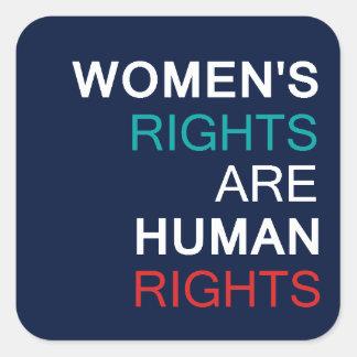 Sticker Carré Droits de la femme
