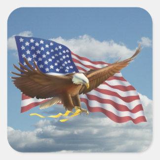 Sticker Carré Eagle chauve américain