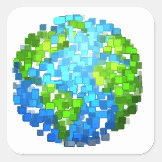 Sticker Carré earth2