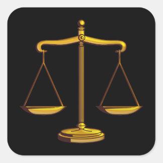 Sticker Carré Échelles de justice