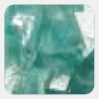 Sticker Carré éclat vert des bijoux