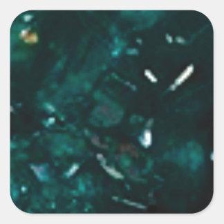 Sticker Carré éclat vert-foncé