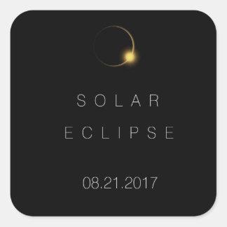 Sticker Carré Éclipse 2017 solaire totale américaine