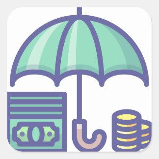 Sticker Carré Économiser pendant un jour de pluie