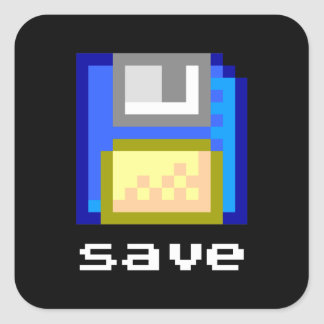 Sticker Carré Économisez