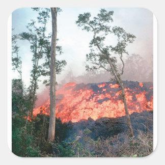 Sticker Carré écoulement de fonte du feu