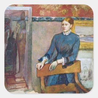 Sticker Carré Edgar Degas | Helene Rouart dans l'étude de son