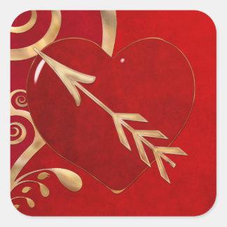 Sticker Carré Élégance 1 de Valentine