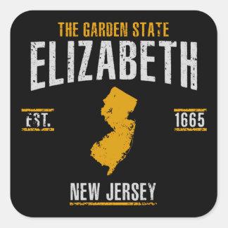 Sticker Carré Elizabeth