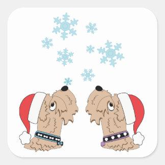 Sticker Carré Emballage blond comme les blés de Noël de Terrier