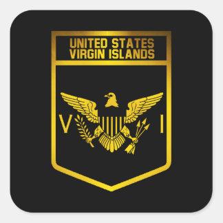 Sticker Carré Emblème des Îles Vierges américaines