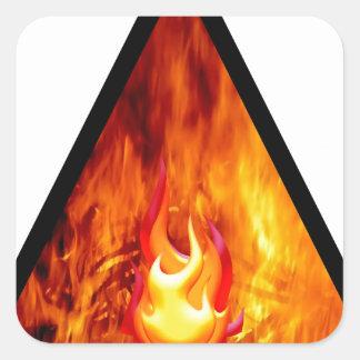 Sticker Carré Énergie de flamme