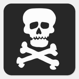Sticker Carré Ensemble d'autocollant de crâne de roche grand de