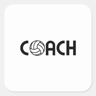 Sticker Carré Entraîneur de volleyball