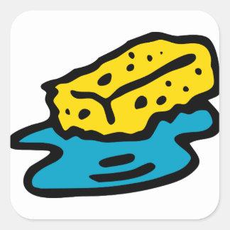 Sticker Carré Éponge de trempage