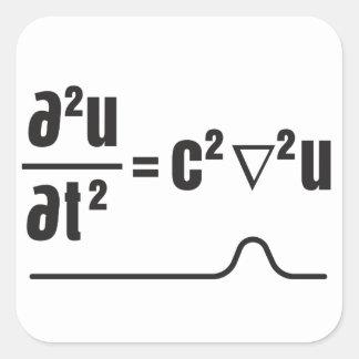 Sticker Carré équation d'ondes