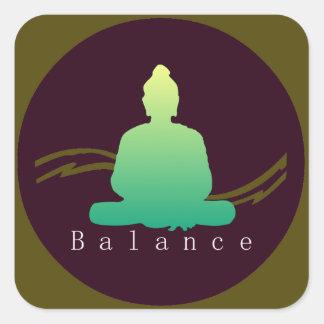 """Sticker Carré """"Équilibre"""" beau Bouddha"""