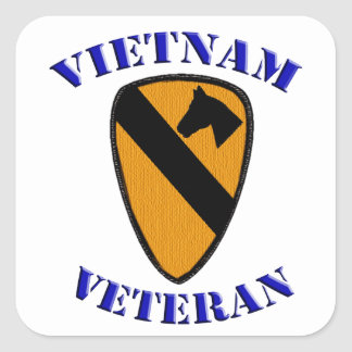 Sticker Carré ęr Vétéran de Cav Vietnam