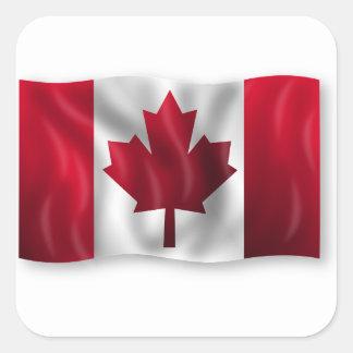 Sticker Carré Érable canadien de feuille d'emblème de pays de